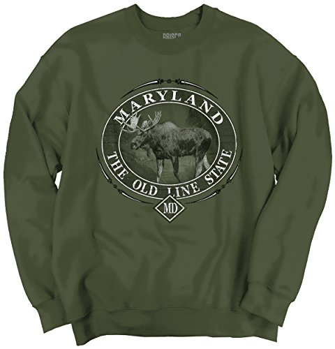 Maryland The Old Line State Pride USA T Shirt Moose Elk Gift Sweatshirt (Party City Baltimore Md)