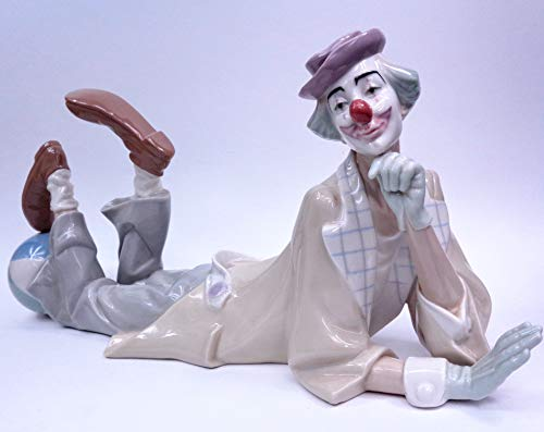 Lladro Collectible - ''Clown Figurine'' #01004618, Glazed Finished Porcelain