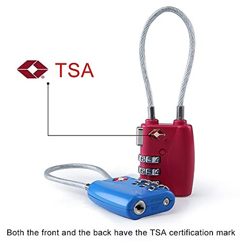 Color : Rose red Dig dog bone TSA719 Zinc Alloy 3-Digit Password TSA Lock Travel Luggage Padlock