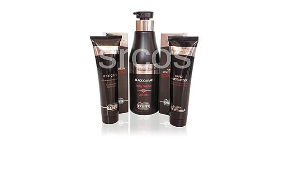 Mon Platin DSM negro Caviar Body Set Cuerpo néctar orquídea hidratador, cuidado de manos y pies cuidado crema: Amazon.es: Belleza