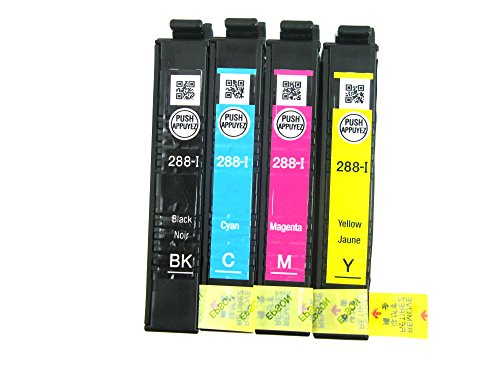 Genuine Epson 288-I Initial Ink Cartridge 4 Pack for Epson Expression Home XP-330 XP-430 XP-434 Printer