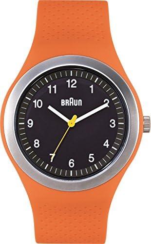 Braun Men s BN0111BKORG Sport Analog Display Quartz Orange Watch