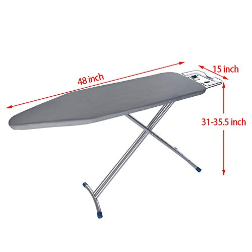 WONdere 48x15'' Home ironing Board 4 Leg Foldable Adjustable Board by WONdere (Image #7)