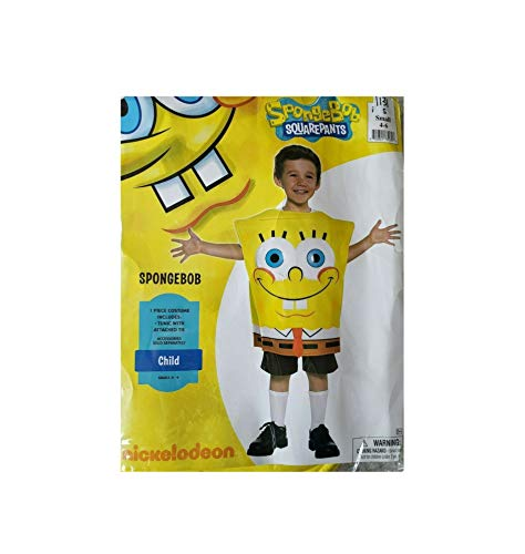 Spongebob Squarepants Unisex Foam Costume Ages 3-4 Years ()