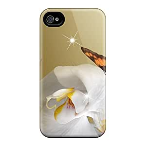 Series Skin Case Cover For Iphone 4/4s(orchids In Gold)