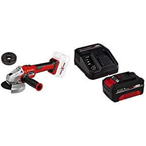 Einhell Smerigliatrice Angolare a Batteria AXXIO 18/125 Q Power X-Change + Power-X-Change Starter Kit, Caricabatteria e… 41O Lp981WL. SS300