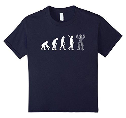 Make Ancient Egyptian Costume Boy (Kids Mummy Evolution T-shirt Mummy Made Better 12 Navy)