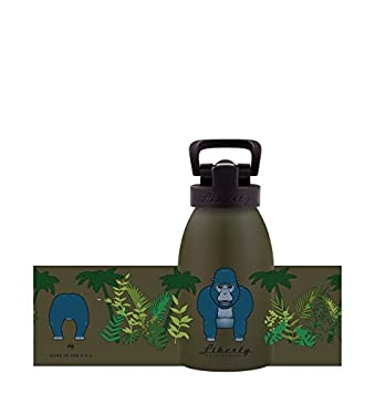 Made in USA 12oz Liberty Bottleworks Kids Safari Aluminum Water Bottle