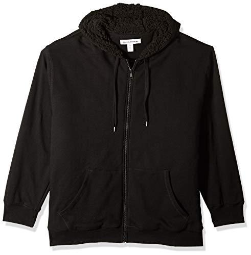 Amazon Essentials Men's Big & Tall Sherpa Lined Full-Zip Hooded Fleece Sweatshirt fit by DXL