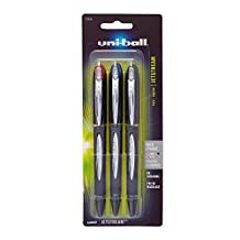 uni-ball Jetstream Rollerball, Stick Roller Ball Pen Bold-1.0mm, 3-Carded, Assorted Inks (33930PP)