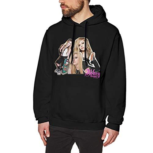 HCULXTIBW Men's Avril Lavigne Singer Hooded Sweatshirt Funny No Pocket XXL Black]()