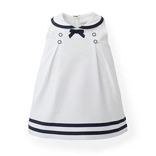 Hope & Henry Layette Woven Sailor Dress White]()