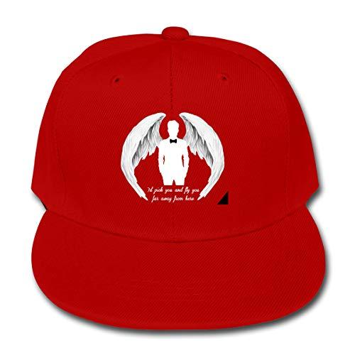 LWOSD Childs Baseball Cap, Justin Timberlake Plain Cotton Baseball Cap Sun Protect Ajustable Hats for Boys Girls Red