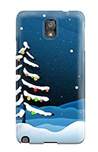 For Galaxy Note 3 Premium Tpu Case Cover Xmas Fall Tree Protective Case