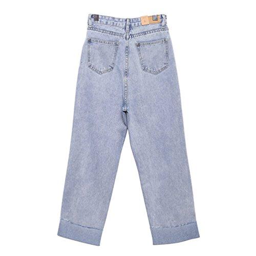 Grandi Dimensioni Chiaro Vita Pantaloni Moda Donne In Larghi Retro Di Jeans Lihaer Denim Harem Blu A Alta 1aqw7BP
