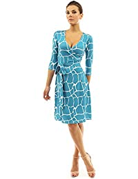 Women's Faux Wrap A Line Dress