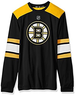 NHL mens Silver L/S Jersey Tee