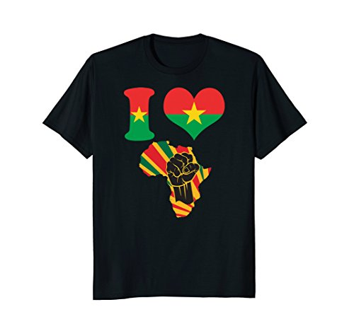Mens Burkina Faso flag t-shirt I love Africa map t-shirt XL Black
