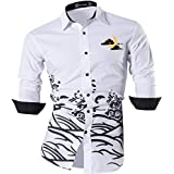 Sportrendy Men's Slim Fit Long Sleeves Casual Button Down Dress Shirts JZS046