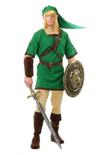 [Charades Men's Elf Warrior Costume Set, Green/Brown, Medium] (Halloween Costume Ideas 2016 Men)
