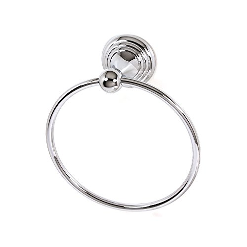 - Alno A9040-PC Embassy Traditional Towel Rings, Polished Chrome
