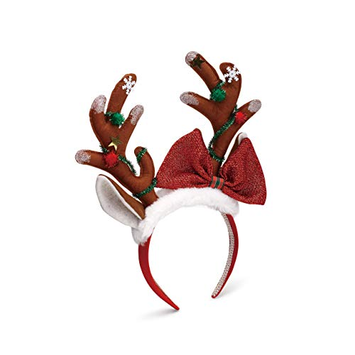 Reindeer Antlers With Bow...