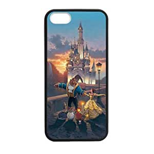 LeonardCustom- Beauty and The Beast Princess Belle Protective TPU Rubber Gel Silicon Coated Cover Case for iPhone 5c -LCI5cU5c3