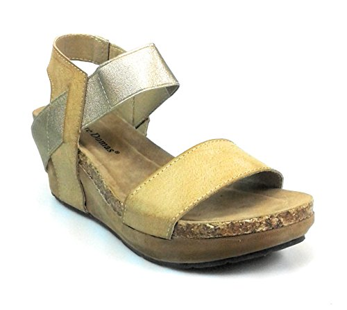 - Pierre Dumas Women Low Wedge Chantal 02 Sandals,Nude,6