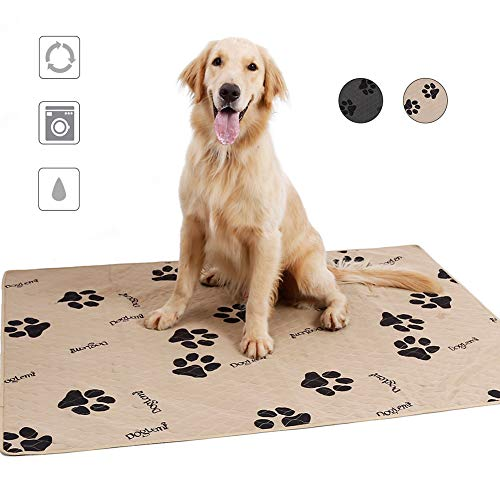 Pet Dog Reusable Pee Pad,Fast Absorbing Puppy Doggy Training Pads,Machine Washable Pet Whelping Pad,Waterproof Bed Mat…