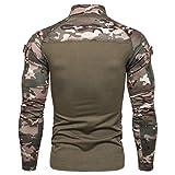 Men's Tactical Military Assault Combat Shirt Long