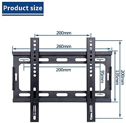 CNYF14-42 - Soporte fijo de pared para televisores LED, LCD, 3D ...