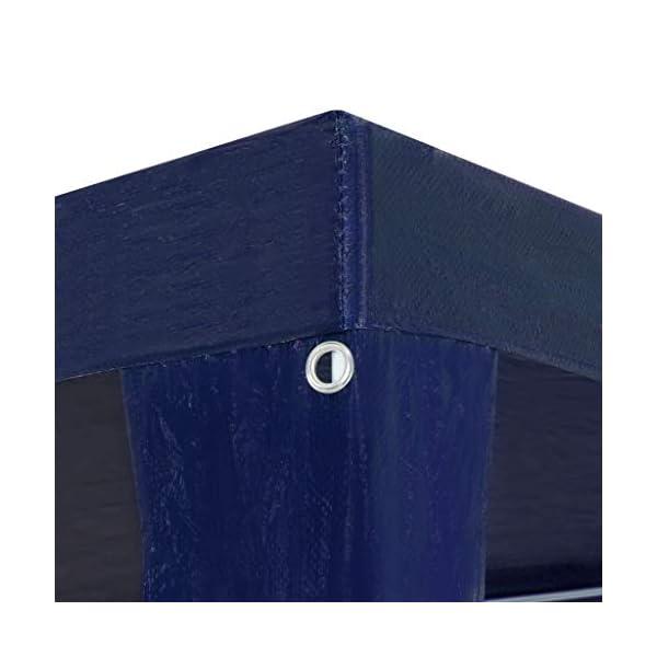 UnfadeMemory Tendone per Feste in PE Impermeabile Gazebo da Giardino 3x12 m Blu 5 spesavip