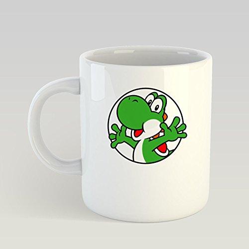 GANTEE - Yoshi MUG 15oz Unique coffee mug, Ceramic coffee mug, Gift for Men or Women, Funny Mug, Dad Birthday -