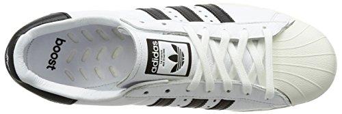 Mens Superstar Adidas, Bianco / Nero, 8,5 M Us