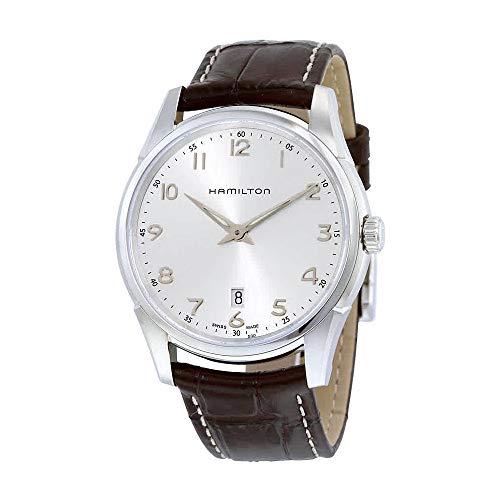 Hamilton Mens Quartz - Hamilton Men's H38511553 Jazzmaster Thinline Silver Dial Watch