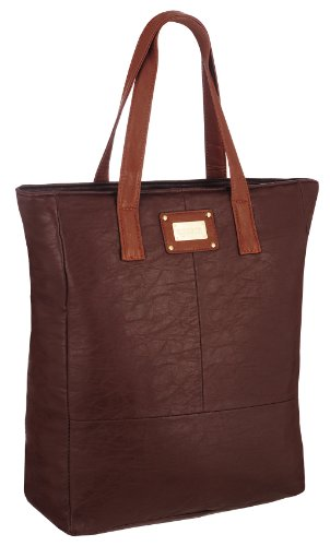 EyeCatchBags Maribel Womens Brown Leather Mustard Tote ShoulderBag Faux HandBag rrgwqx4f