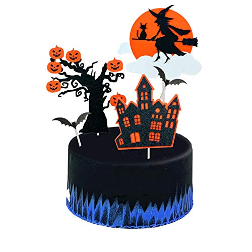 Cake Decorations For Halloween - set3 Halloween Party Supplies 5Pcs Cake
