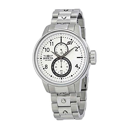 Invicta Men's 'S1 Rally' Quartz Stainless Steel Casual Watch, Color:Silver-Toned (Model: 23059) ()