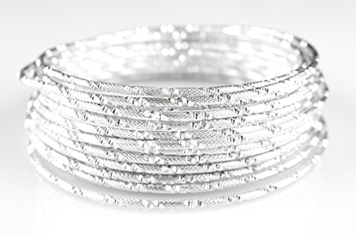 Cut Diamond Wire - Creacraft Beading Style Wire - Aluminium Wire with Structured Surface (Embossed with Diamond Cut, Silver)