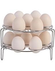 Aozita Stackable Egg Steamer Rack Trivet for Instant Pot Accessories
