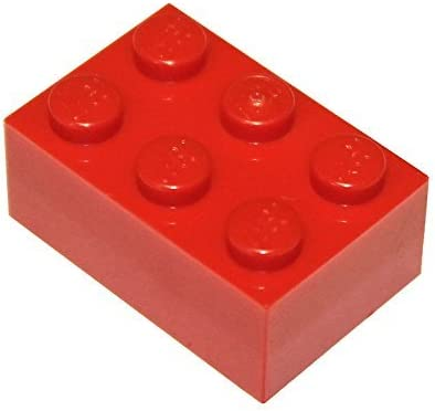LEGO Parts and Pieces: 2x3 Red (Bright Red) Brick x50