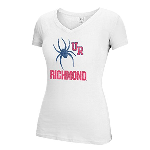 J America NCAA Richmond Spiders Women's Large Mascot Essential Tee, White, Large