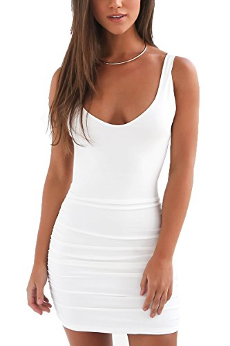 Women's Backless Mini Dress White - 6