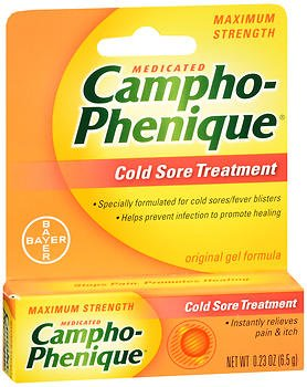 Campho-Phenique Original Cold Sore Treatment Gel Formula - 0.23 oz, Pack of 4 by Campho-Phenique