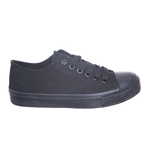 nuevo Estilo!! Zapatillas De Lona Clásicas Para Mujer Zapatillas De Deporte Best Seller Negras