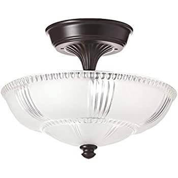 Amazon.com: Alces 08103-agb Restauración 3-Light Semi-Flush ...