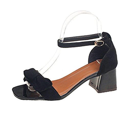 Et Chaussures Sandales Une Paire Femmes Noir Pour Avec Des D'orteils wxHXcnxqP