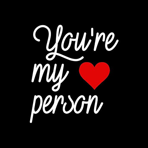 (CCI You're My Person Heart Grey's Anatomy Christina Meredith Decal Vinyl Sticker|Cars Trucks Vans Walls Laptop|White|5.5 x 5.0 in|CCI2068)
