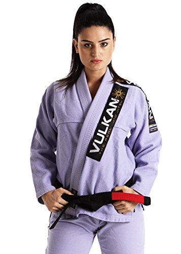 Vulkan Fight Company Brazilian Jiu Jitsu, Women's BJJ Pro Light GI for Martial Arts Sports, Lilac, A2