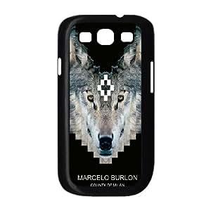 Marcelo Burlon V4L35U5YK funda Samsung Galaxy S3 9300 funda caso V64617 negro